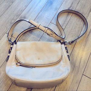 ♠️ Kate Spade ♠️ Pebbled Leather Cream Crossbody Bag